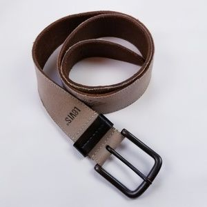 Levi's Canvas over Genuine Leather Belt